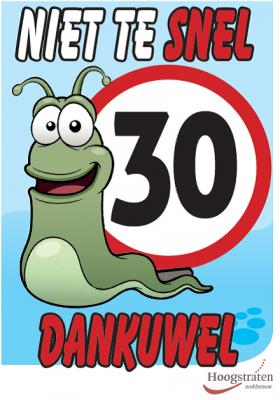 Stad Hoogstraten sensibiliseert over snelheidslimieten