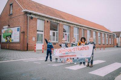 Definitieve schoolstraat in Minderhout en fietsstraat in Meer
