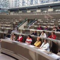 De KVLV Stelen (Geel) op bezoek bij Tinne in het Vlaams Parlement