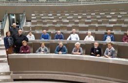 Bond oude brandweermannen op bezoek in het Vlaams parlement